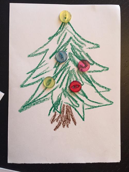 Weihnachtskarten Mit Knöpfen.Weihnachtskarten Mit Knöpfen Projekt Baby